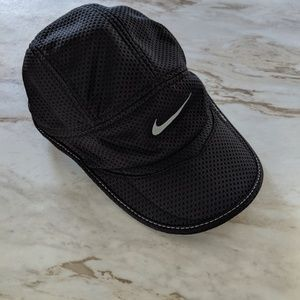Nike black baseball running cap hat